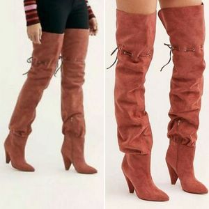 Jeffrey Campbell Backstage Suede Thigh High Boots